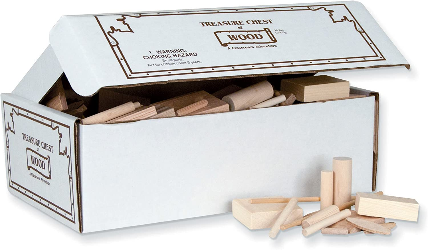 Pacon PAC25330 Treasure Chest of Wood, 10 lbs.
