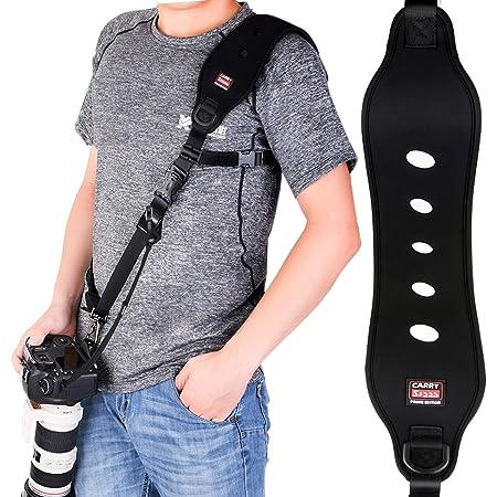 Coolwill Professional Schnelle Action Kamera Schultergurt Mit Quick Release Clip W Sicherheitsfunktion W Quick Lock System W Bis Zu 15kg Schwarz Küche Haushalt