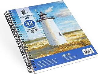 TBC The Best Crafts Bloc de Papier Aquarelle, 32 Feuilles 300g de Papier à Dessin Grain Fin A4 (9''x12'') pour Professionn...