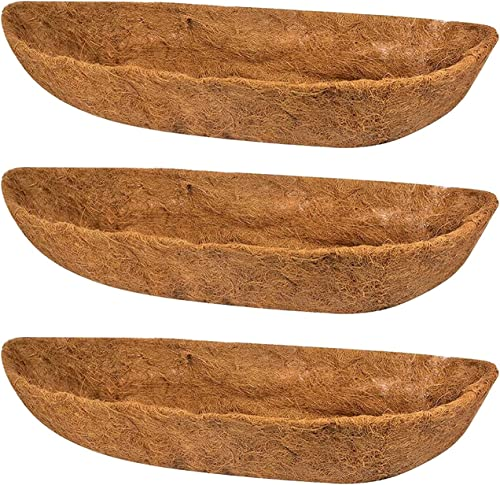 high quality BTSRPU 3pcs Coconut Palm Cushion Coco new arrival Fiber high quality Replacement Flowerpot Liner Coconut Palm Hanging Pot, Coconut Liners for Planters Coconut Coir Roll Flower Box Liner Planter Basket Liners(36inch) outlet online sale