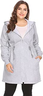 Zeagoo Women's Plus Size Hoodies Sweatshirt, Zip up Fleece Jacket Coat Outerwear with Pockets