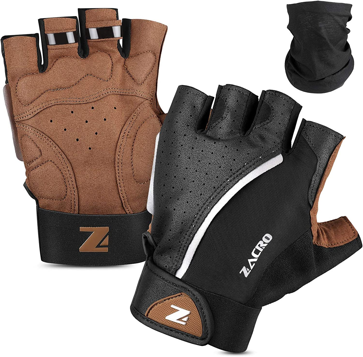 safety Zacro Cycling Gloves Half New product Finger Biking MTB Road Bicyc Glove DH