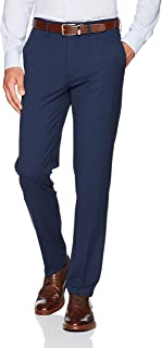 Men's Stretch Superflex Waist Slim Fit Flat Front Dress Pant