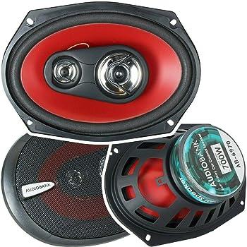 Car Coaxial Speakers,6x9in Black Color Auto Car HiFi Stereo Audio Coaxial Speakers Loudspeaker 600W 12V Black