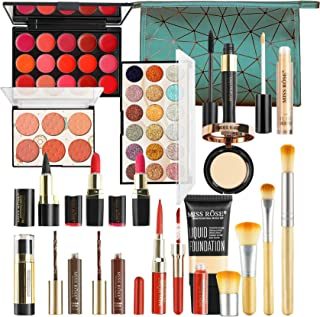 Professional Makeup Set,MKNZOME Cosmetic Starter Kit With Storage Bag Portable Travel Make Up Palette Birthday Xmas Gift S...