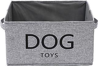 Xbopetda Canvas Dog Toy Basket Box- Pet Toy and Accessory Storage Bin Pet Toy Storage Bin Collapsible Organizer Storage Ba...