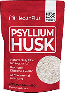 Sponsored Ad - Health Plus Psyllium Husk - Weight Management - Detox, Natural Daily Fiber (24 Ounces, 96 Servings)