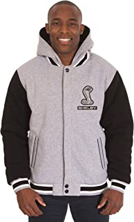 Mens Shelby Cobra Reversible 2-Tone Fleece Hooded Jacket w/Embroidered Emblems