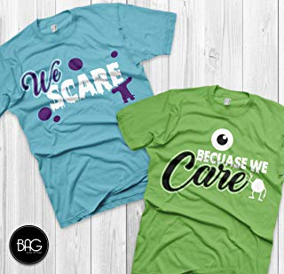 Disney Couples Shirts Mike and Sully Matching Shirts Monsters inc shirts Vacation T Shirts Couple matching shirts