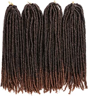 18 26inch Soft Dreadlocks Crochet Braids Jumbo Dread Hairstyle Ombre Color Synthetic Faux Locs Braiding Hair Extensions,T1B/30,22inches,3Pcs/Lot
