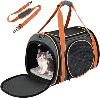 comprar comparacion OKMEE Transportin Gatos Perros, Transportín Mascotas, Transportadora de Mascotas con Soporte Colchón Blando Tapizado, Tran...