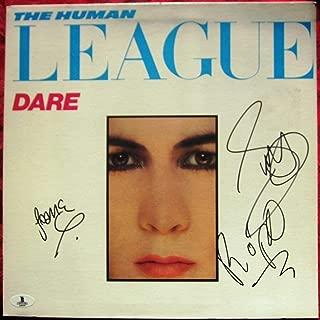 Human League 3x signed LP Album Cover Dare BAS Beckett - Beckett Authentication