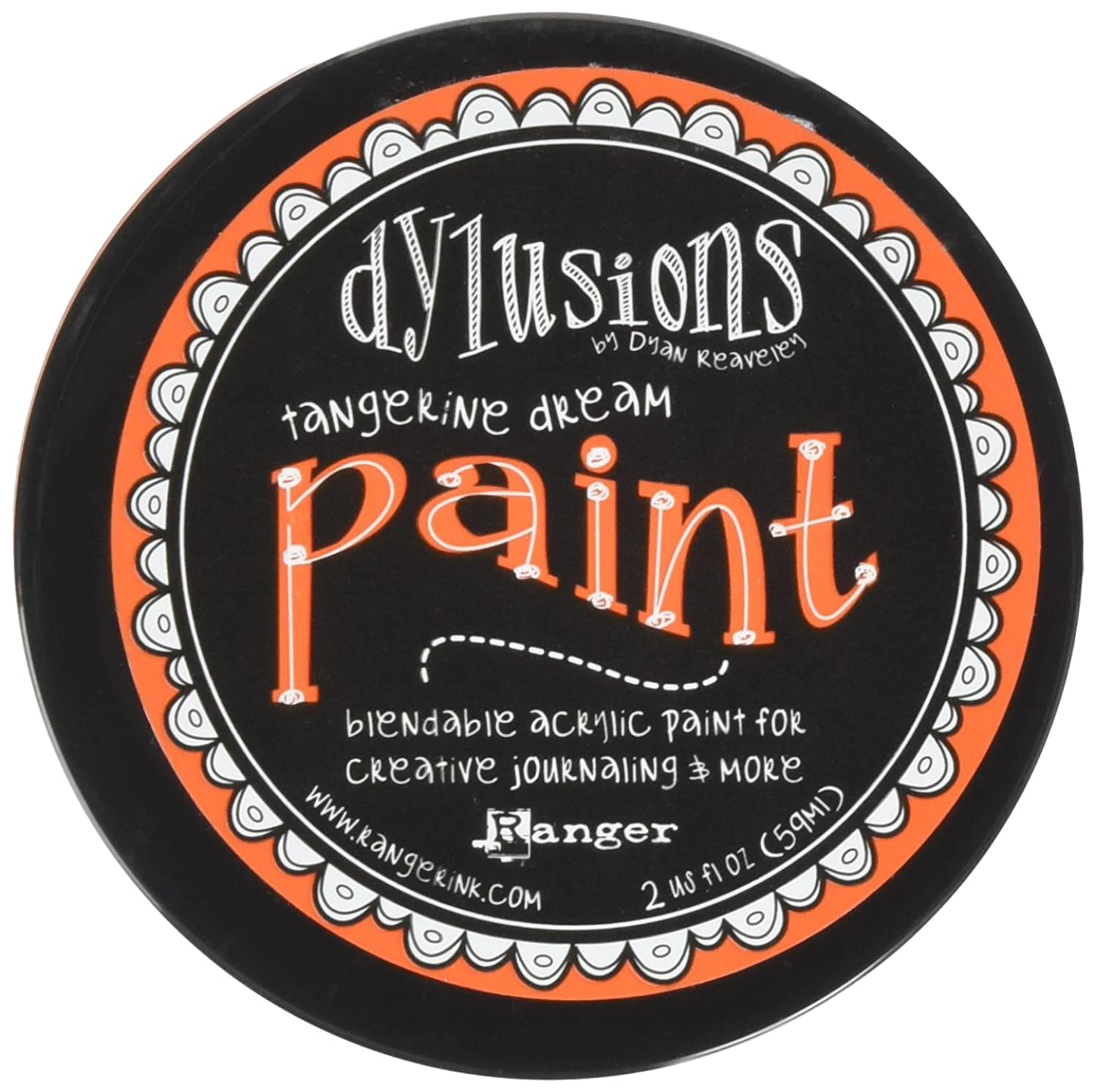 Ranger DYP50995 Dylusions by Dyan Reaveley Blendable Acrylic Paint, 2 oz, Tangerine Dream