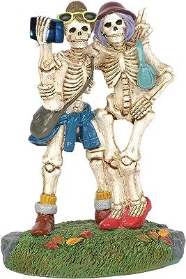 Department 56 Village Cross Product Accessories Halloween Skelfie Flashing Figurine, 3.25 Inch, Multicolor