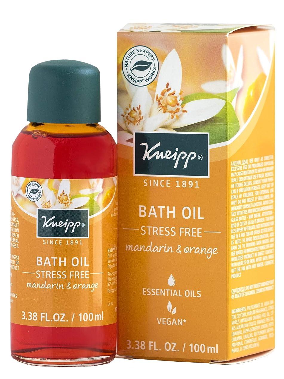待って罪人メンダシティKneipp STRESS FREE BATH With Natural Essential Oils MANDARIN & ORANGE 100ml
