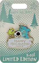 Disney Pin - Happy Holidays 2018 - Mike and Sulley