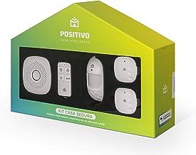 Kit Casa Segura Positivo Casa Inteligente, seguro e inteligente, contém 5 itens (1x Smart Central, 1x Controle Remoto, 1x ...