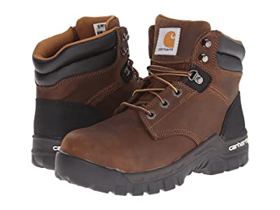 Carhartt 6 Rugged Flex Comp Toe Work Boot (Brown Oil Tanned Leather) Women
