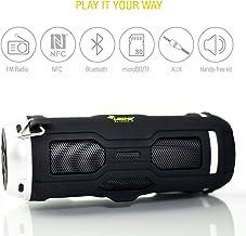 Altavoz Portátil Exterior Bluetooth DJ Roxxx Active Reproductor MP3, Radio FM, Lector Tarjeta SD, Manos Libres, Entrada Audio 6h de Música Exterior de Caucho antichoque Negro
