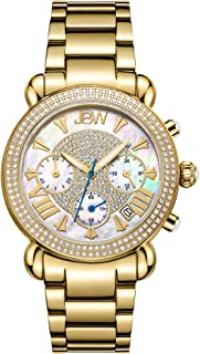 JBW Luxury Women's Victory 1.60 ctw Diamond Wrist Watch with Stainless Steel Link Bracelet
