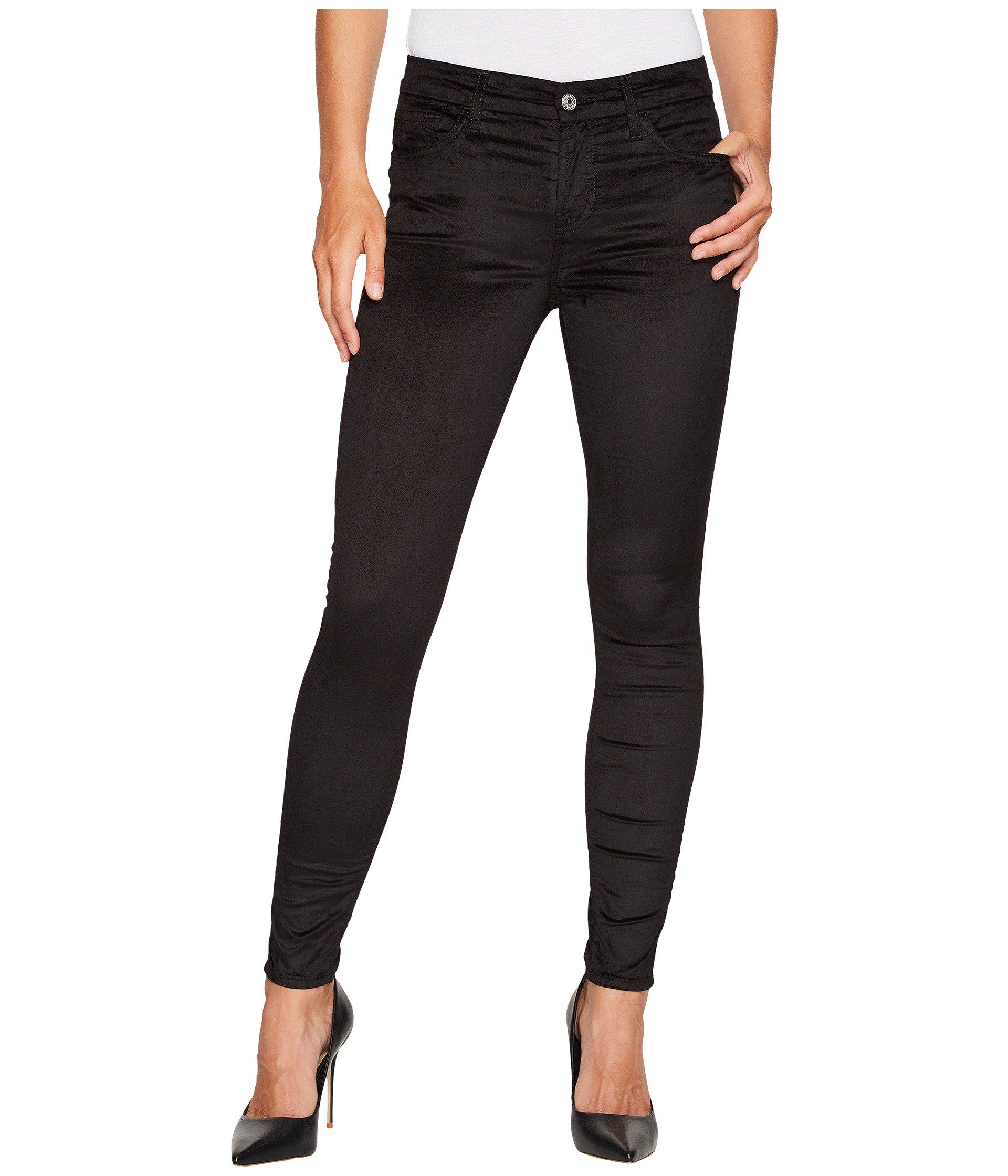 Velvet Ankle Skinny in Black