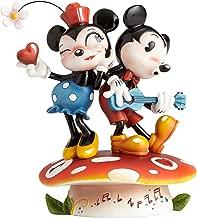 World of Miss Mindy Disney Mickey and Minnie Mouse on Mushroom Figurine 4058894