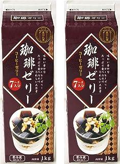 Y080350-2P 豊田乳業 牛乳パックシリーズ 珈琲ゼリー(コーヒーゼリー)1個1kg7~8人分×2個