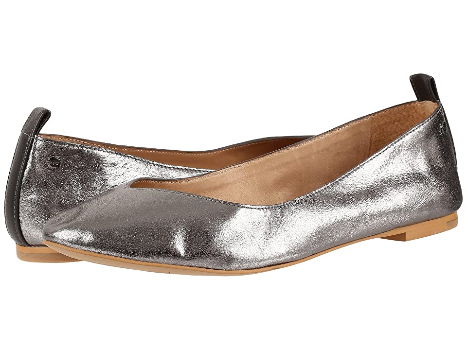 Stay chic and cozy this spring in the Lynley Metallic slip-on by UGG. Metallic leather upper in a sleek silhouette. Easy slip-on style. Leather lining. PORON and EVA insole. Synthetic leather outsole. Imported. Measurements: Heel Height: 1 4 in Weight: 5 oz Product measurements were taken using size 7  width B - Medium. Please note that measurements may vary by size. Weight of footwear is based on a single item  not a pair.