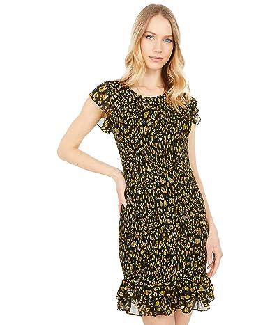 LOST + WANDER Dance All Night Mini Dress (Black Leopard Multi) Women