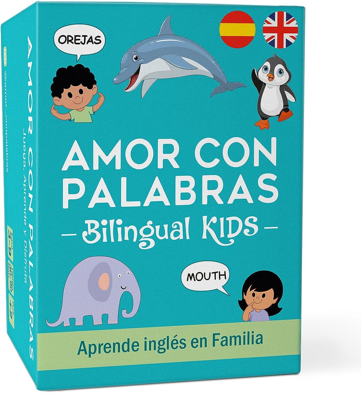 AMOR CON PALABRAS - Bilingual Kids 🌎 | Juegos de Mesa para Niños para Aprender a Leer y Hablar en Inglés y Español. Juegos de Mesa Familiares para Pasarlo Genial Mientras Se Aprende en Familia