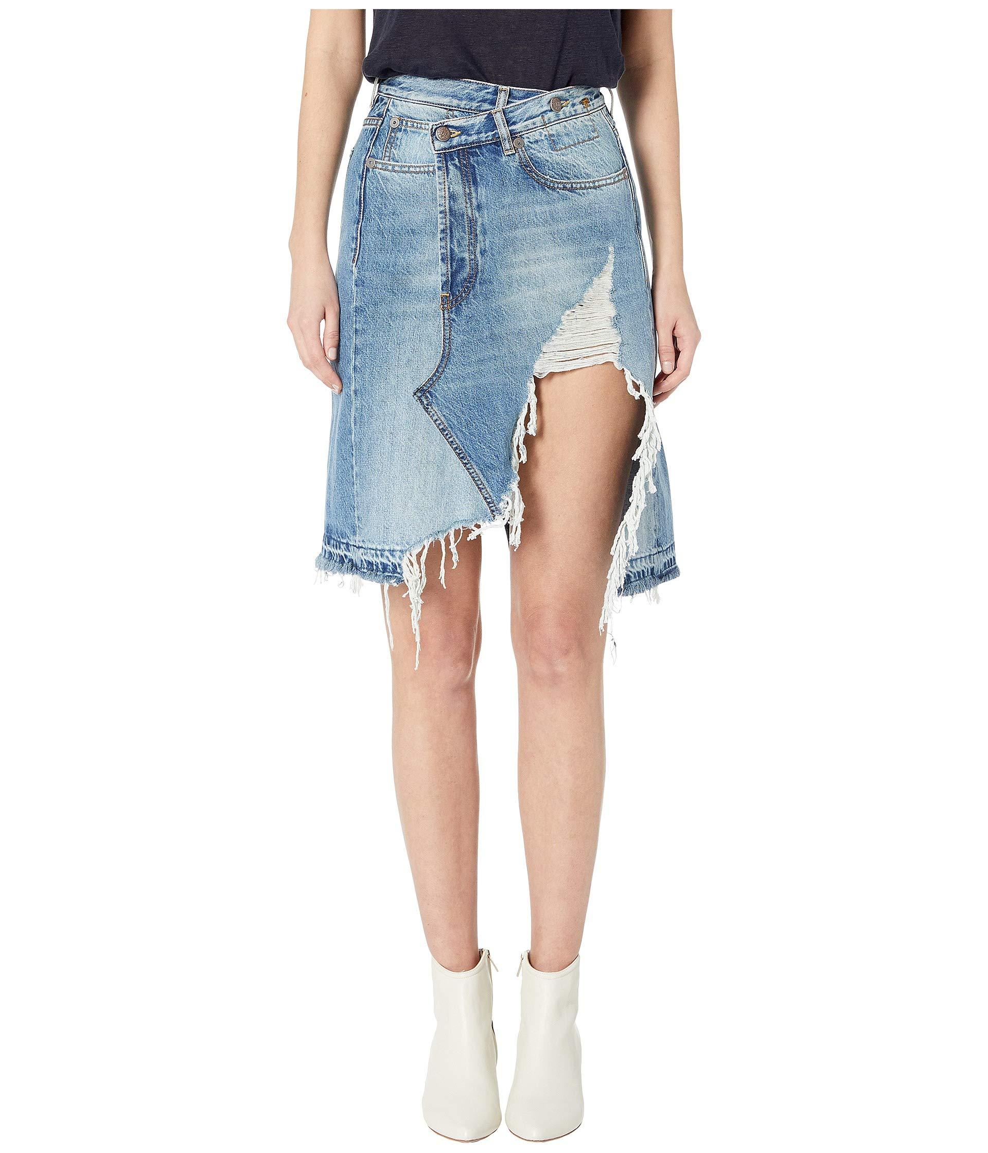 448beb33e R13 Norbury Denim Skirt at Luxury.Zappos.com