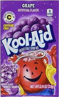 Kool-Aid Soft Drink Mix Grape Unsweetened, Caffeine Free - 0.14 Oz, Pack of 12