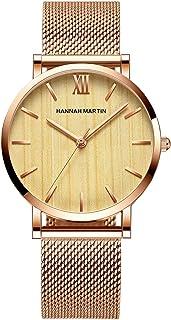 ساعة نسائية عصرية كوارتز تناظرية للسيدات ساعة يد كاجوال بسوار من الفولاذ المقاوم للصدأ 3 ATM مقاومة للماء (اللون: A)