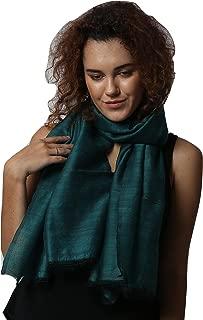 "Handcrafted Wool Silk Melange Oversize (30"" X 80"") Scarf/stole."
