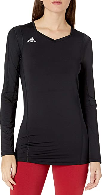 Amazon.com : adidas Women's Volleyball Quickset Long Sleeve Jersey ...