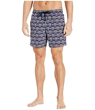 Vilebrequin Hyppocampes Moorea Swim Trunks (Night Blue) Men