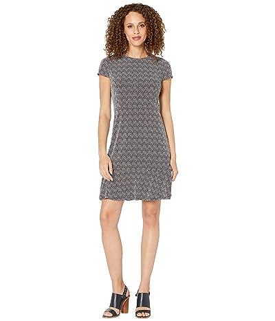 MICHAEL Michael Kors Micro Reptile Flounce Dress (White/Black) Women
