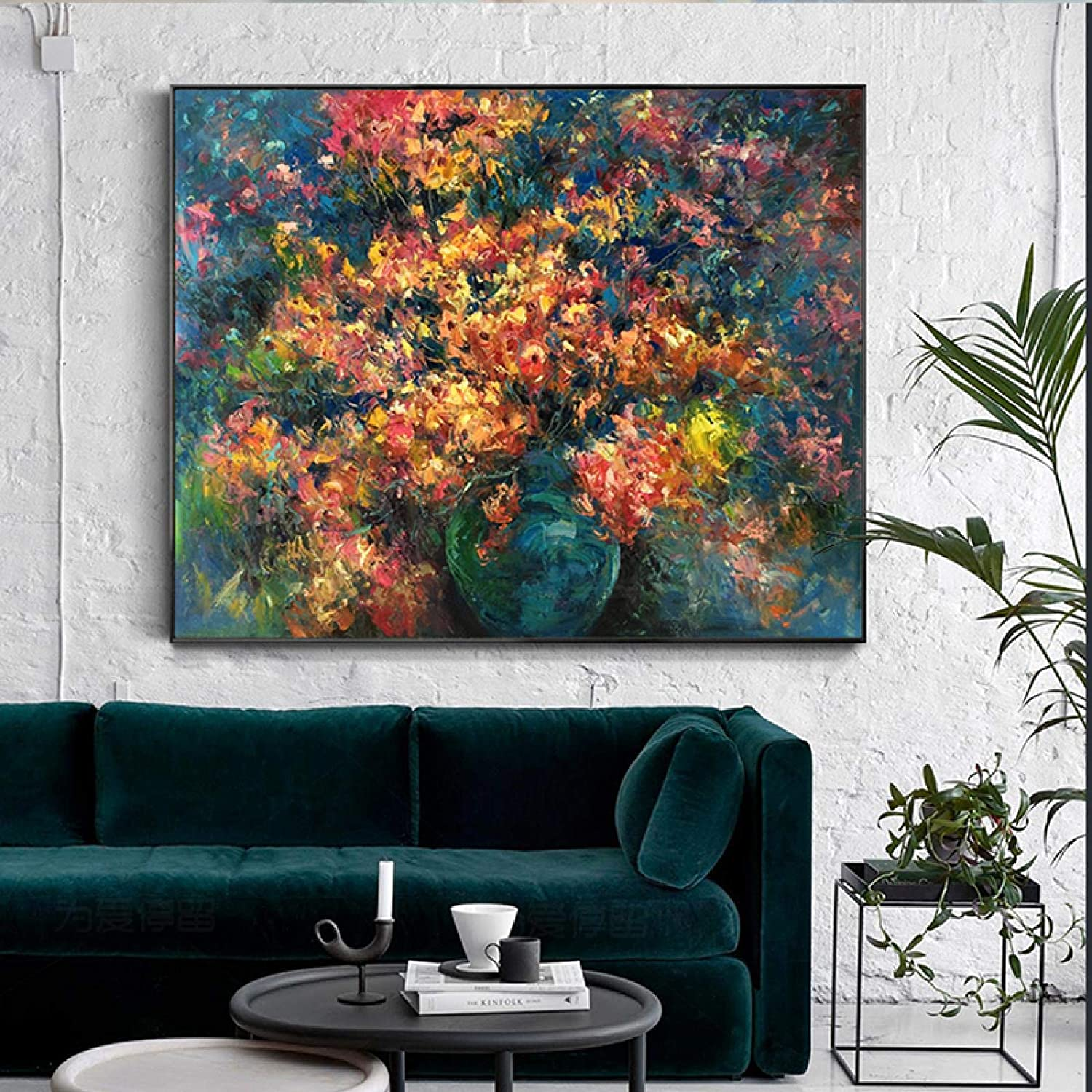 Abstract Flower Art On Canvas Wall Many popular brands Decoration Picture R For Long Beach Mall Live