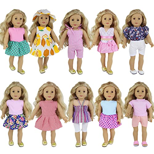 ZITA ELEMENT 10 Sets Clothes for American 18 inch Girl Doll  f2c1540b9