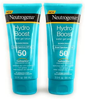 Neutrogena Hydro Boost Spf#50 Water Gel Sunscreen Lotion 3 Ounce (88ml) (2 Pack)