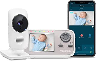 """Motorola MBP667CONNECT 2.8"""" Video Baby Monitor with Wi-Fi Viewing, Digital Zoom, Two-Way Audio, and Room Temperature Display"""