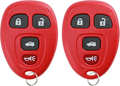 KeylessOption Keyless Entry Remote Control Car Key Fob Replacement for 22733524 with Key Pack of 2