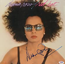 Diana Ross Autographed Red Hot Album Cover - COA - PSA/DNA Certified