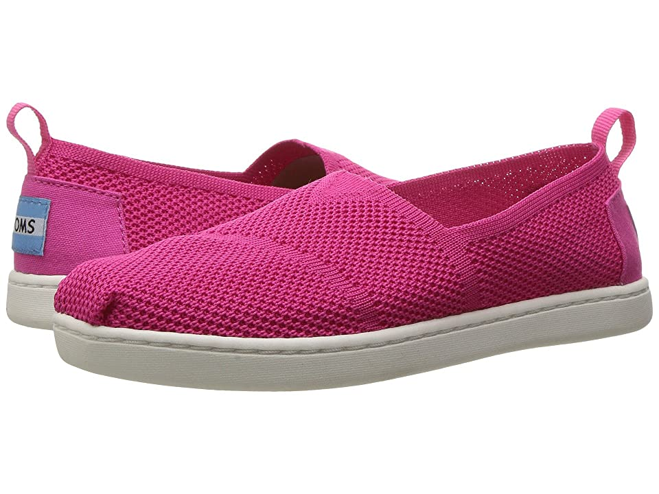 TOMS Kids Knit Alpargata Espadrille (Little Kid/Big Kid) (Fuchsia Mesh) Girls Shoes