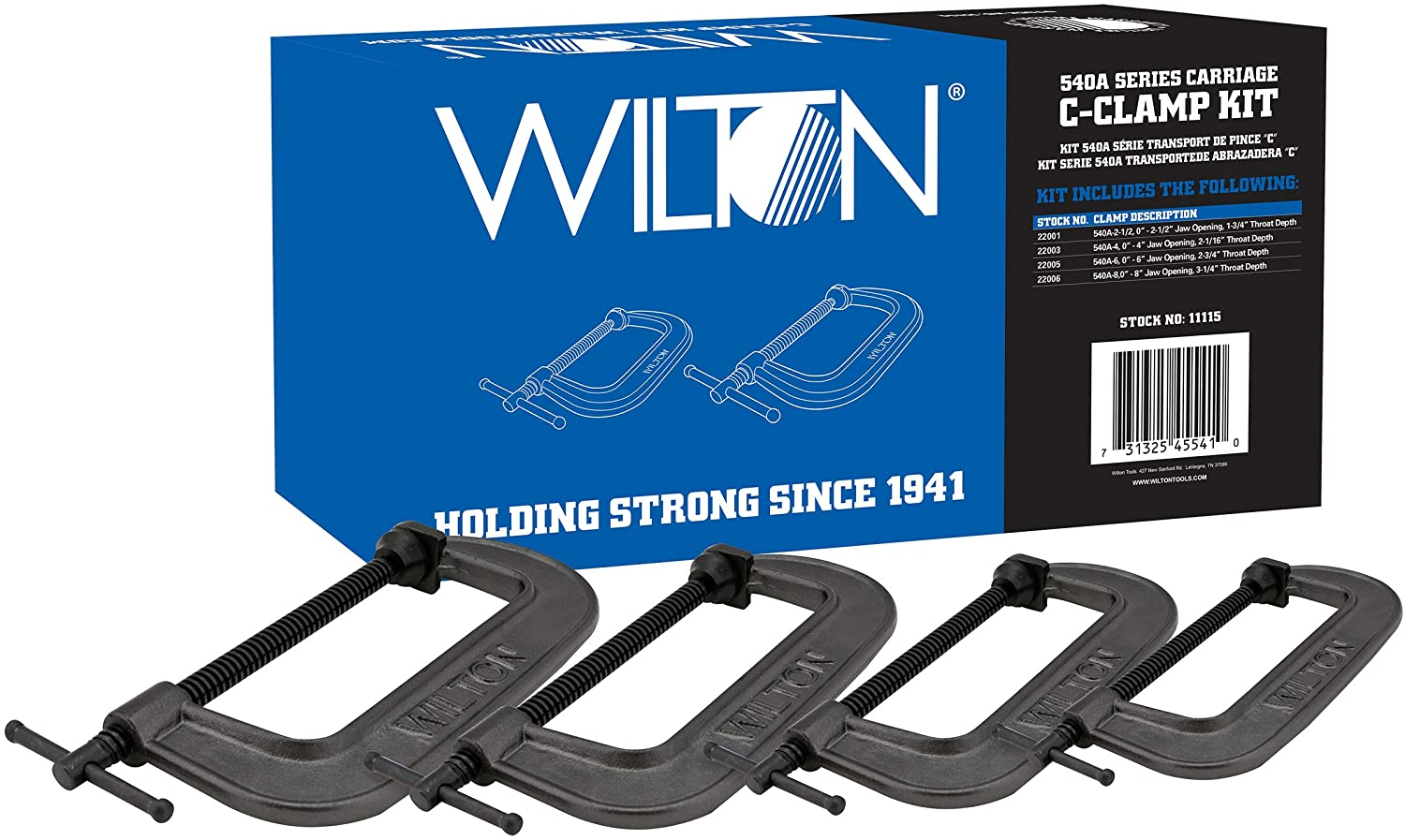 Wilton Max 83% OFFicial mail order OFF 540A Series Carriage 11115 C-Clamp Kit