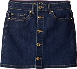Mini Skirt in Denim Indigo (Big Kids)