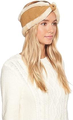 UGG Waterproof Sheepskin Bow Headband