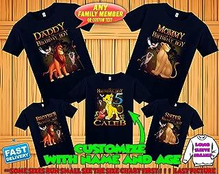 Lion King birthday shirt, Lion King family shirts, Lion King theme party shirts, Lion King matching shirts, Lion King tshirt, hakuna matata