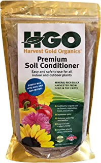Harvest Gold Organics Premium Soil Conditioner, Certified for Organic Gardens, 3 lb Bag, All Purpose for Houseplants, Flowers, All Vegetables and Trees, Provides Natural Silica and Micronutrients
