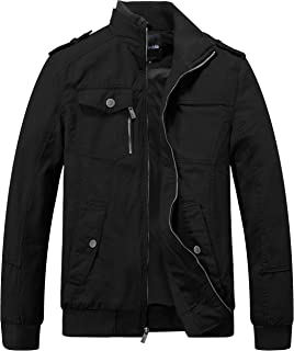 Wantdo Men's Cotton Stand Collar Jacket Spring Trench Coat